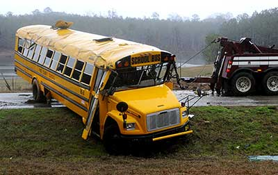 Photo: school bus crash