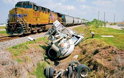 Photo: train crash